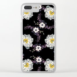 Peony, Orchid and Berries Clear iPhone Case