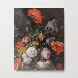 Botanical Print - Vintage - Abraham Mignon - 1600-1679 - Antique - Painting Metal Print
