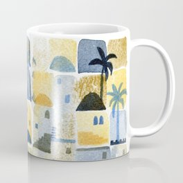 Morning Middle Eastern Town Watercolor Coffee Mug