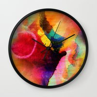 circles Wall Clocks featuring Circles by mimulux