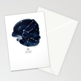 Zodiac Star Constellation - Aquarius Stationery Cards