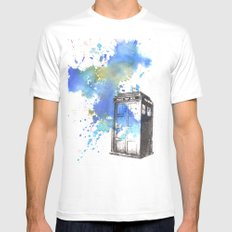 Doctor Who Tardis White MEDIUM Mens Fitted Tee