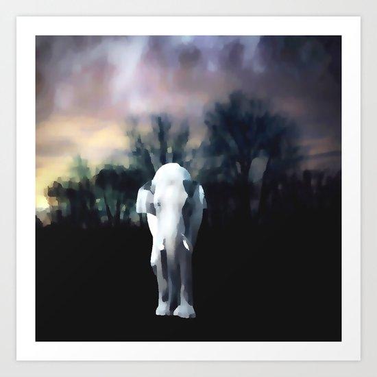 I heart the Elephant Art Print