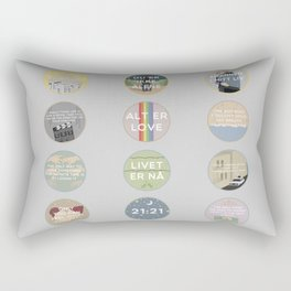 EVAK: A MINIMALIST LOVE STORY VOL. II Rectangular Pillow