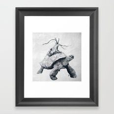 Tortoise Tree Framed Art Print