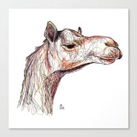 camel Canvas Prints featuring Camel by Ursula Rodgers