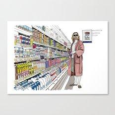Jeffrey Lebowski and Milk. Canvas Print