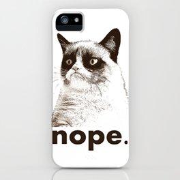 GRUMPY CAT - Nope (version 2) iPhone Case