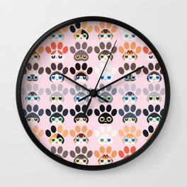 Cute cats~Paw cats Wall Clock