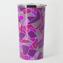 purple shapes Travel Mug