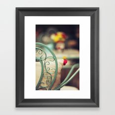The chair and the pillow Framed Art Print