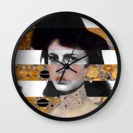 Klimt's Portrait & Anna Magnani Wall Clock