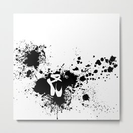 Ballet Slipper Splatter Painting Metal Print