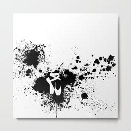 Ballet Slipper Splatter Painting Metal Print