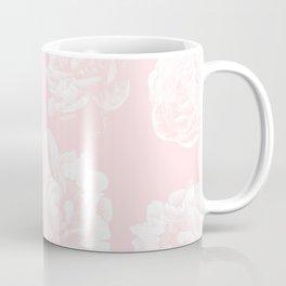Pink Roses in Flamingo Pink Coffee Mug