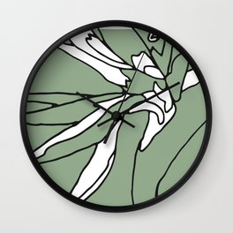 Touch of Heliconia Series #2 Wall Clock