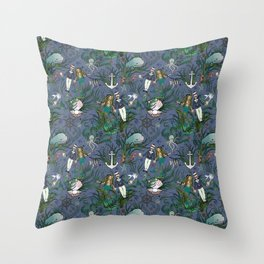 The Siren and the Sailor (La Sirène et le Marin) Throw Pillow