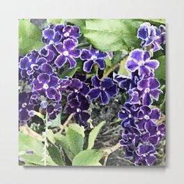 If Angels Made Flowers...Tiny, Precious Purple Flowers Metal Print