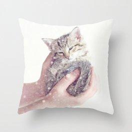 In Safe Hands Throw Pillow