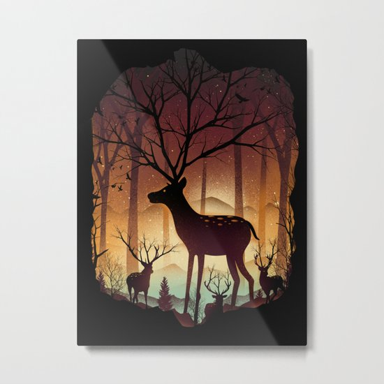 Into Deer Woods Metal Print