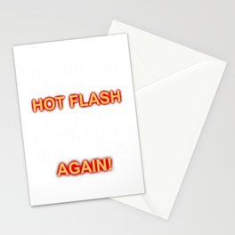 Funny Menopause Hot Flash Coffee Drinker Gag Gift T-Shirt Stationery Cards