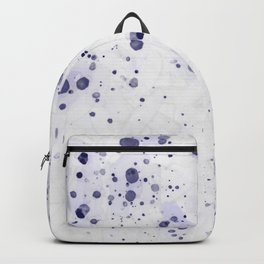 Purple Ink Drops Backpack