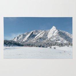 Snowy Flatirons Rug