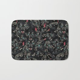 Wolf Pack Pattern Bath Mat