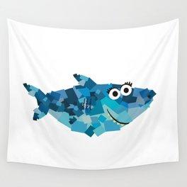 Square SharkMommy! - Shark Family Wall Tapestry