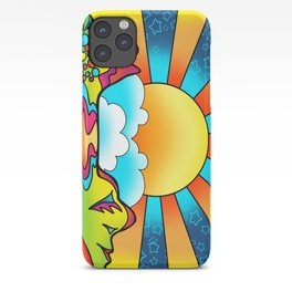 sunset - peter max inspired iPhone Case