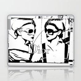 Sketched Fashion19 White on Black Laptop & iPad Skin