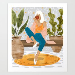 Boss Lady #illustration #painting Art Print