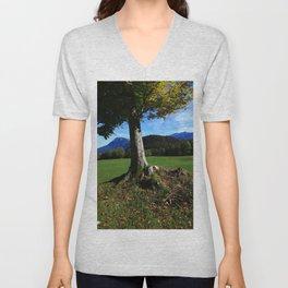 Alpine tree 2 Unisex V-Neck