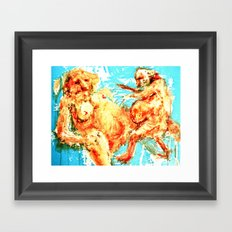 Love is pretty Framed Art Print