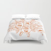 monsters Duvet Covers featuring Monsters by erickac