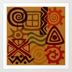 africa inspired Art Print