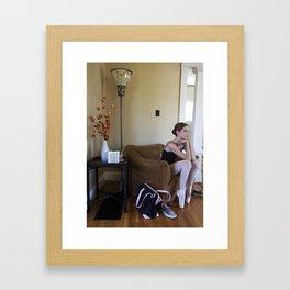 the dancer Framed Art Print