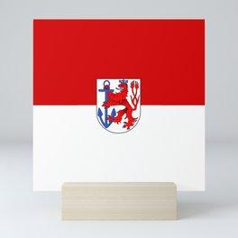 flag of Düsseldorf or Dusseldorf Mini Art Print