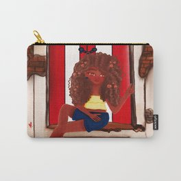 Girl in Door- Old San Juan Door- Puerto Rico Carry-All Pouch