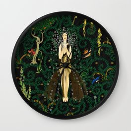 1921 Classical Masterpiece 'Flowers and Flames' by Kay Nielsen Wall Clock