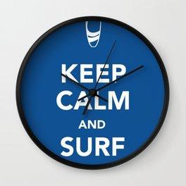 KEEP CALM SURF STRONG Wall Clock