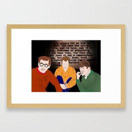 The Beats (Allen Ginsberg, Jack Kerouac, and Gregory Corso) Framed Art Print
