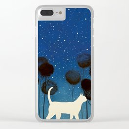 THE POETRY OF A NIGHT by Raphaël Vavasseur Clear iPhone Case