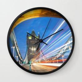 Tower Bridge at Night, London Wall Clock