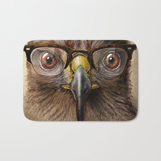Hipster Eagle Bath Mat