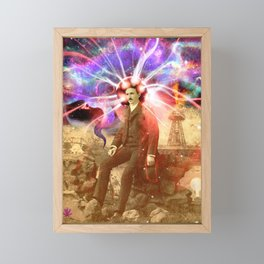 Electric Scientist Framed Mini Art Print