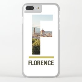 F-lorence Clear iPhone Case