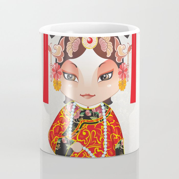 Beijing Opera Character TieJing Princess Coffee Mug
