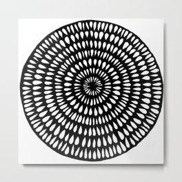 Black Ink Lines 13 Metal Print