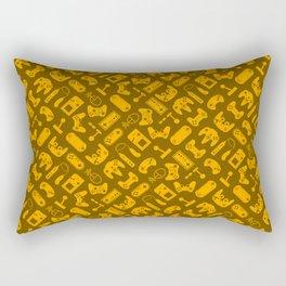 Control Your Game - Tradewinds Gold Rectangular Pillow